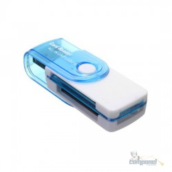 Leitor de cartão memória 4 em 1 USB 2.0
